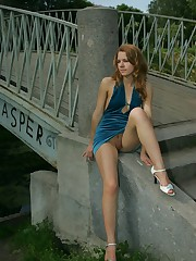 Extra hard shots with gal in tight dress wearing no panties