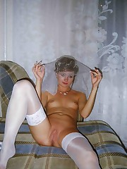 Gall of Bride In White Stockings