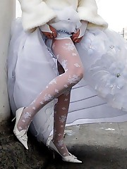 Photos of Bride In White Stockings
