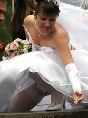 Shots of Amateur Euro Bride