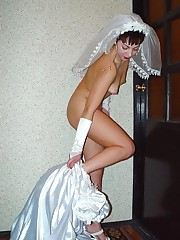 A bride in action photos