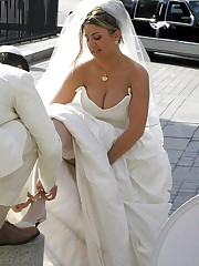 Naughty Brides upskirt photos