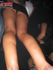 Up skirt panty pics. Crazy party chicks spyed