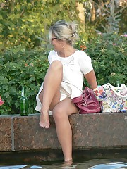 Upskirt pics shoting by hidden cam and spycam