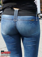 Women in tight jeans nasty tease