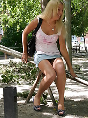 Playground upskirt set