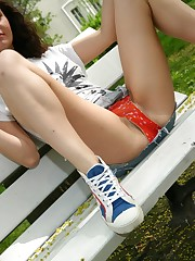 Teen outdoor upskirt upskirt shot