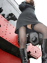 Stockings upskirt gallery candid upskirt
