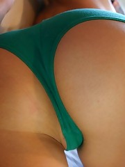 Teen green panty gets recorded in close up pics upskirt pantyhose