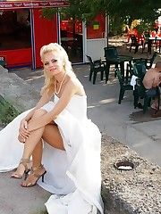 A bride in action photos upskirt photo