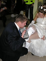 A bride in action photos upskirt shot