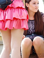 Uncovering view on the hot upskirt upskirt pic